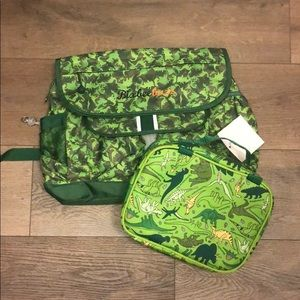 Bixbee Medium Dino Camo Backpack and Lunchbox